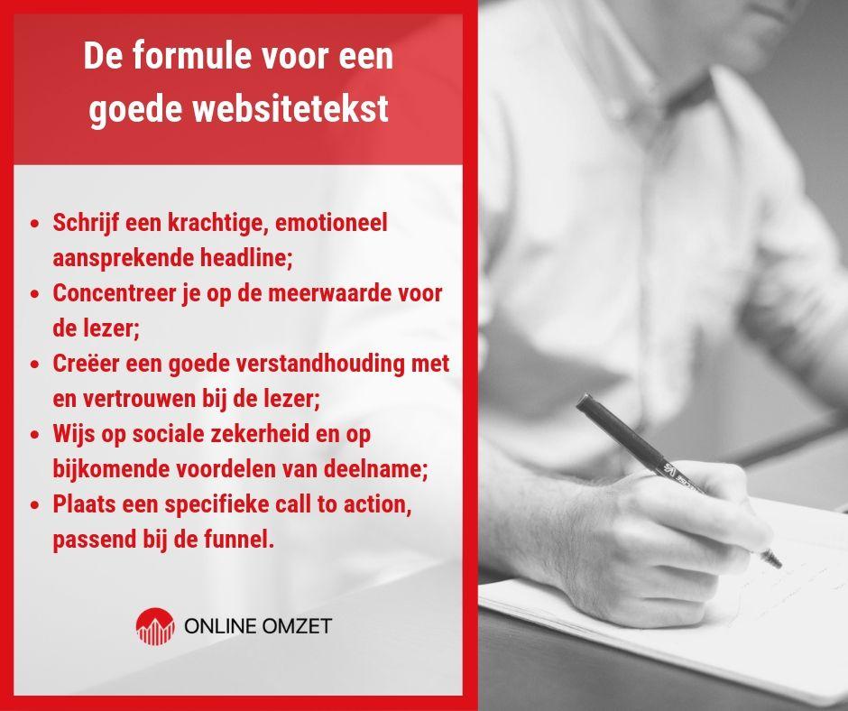 Formule voor goede websiteteksten