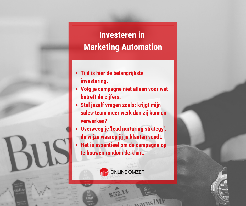 Overstappen op marketing automatisering