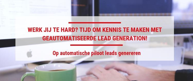 Geautomatiseerd leads genereren